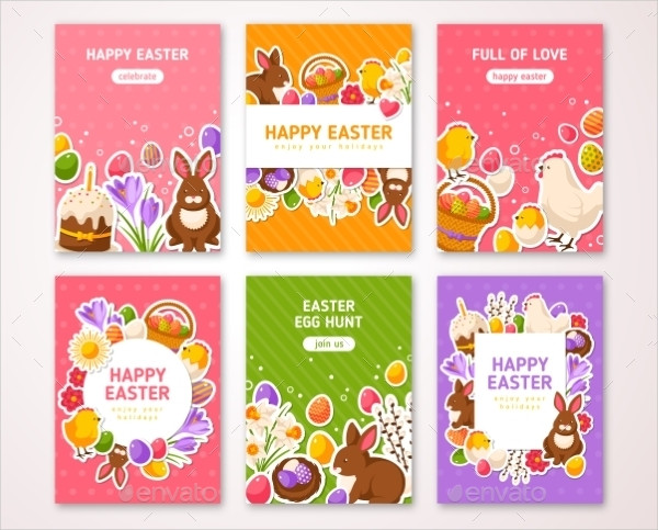 Religious Easter Posters Set