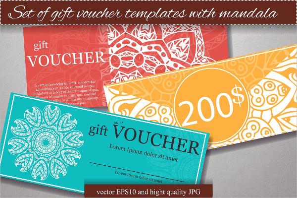 Set of Gift Voucher Templates