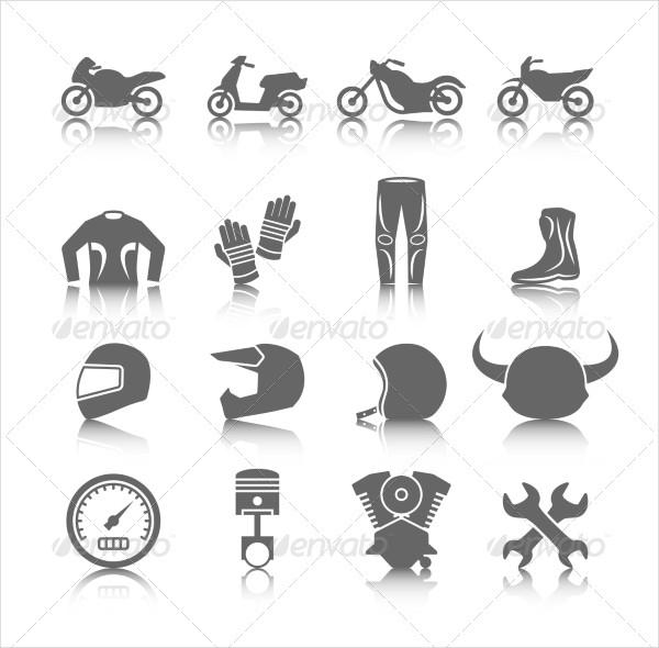 Set of Motorcycles Helmet