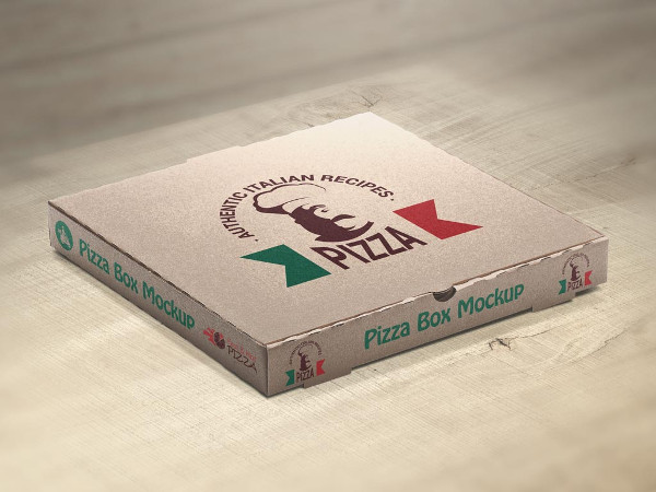 Set of Pizza Box Mockups Free