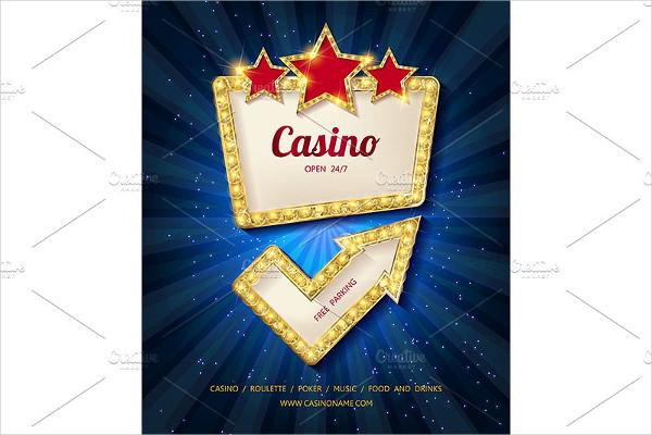 Shining Casino Banner Template