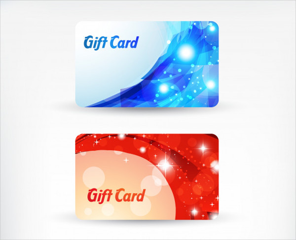 Shiny Gift Card for Business Free Vector