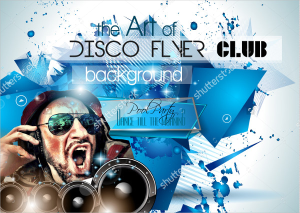 Club Disco Flyer Set with DJ