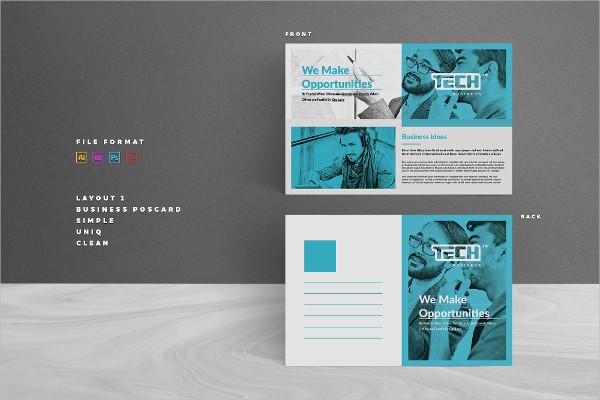 Simple Business Postcard Template