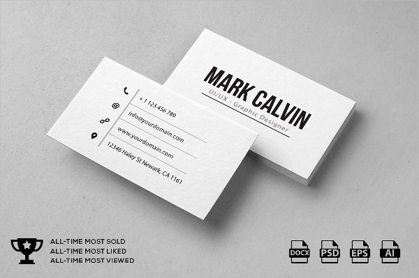 Simple Individual Business Card Design