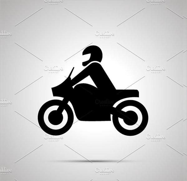 Motorcyclist Simple Black Icon