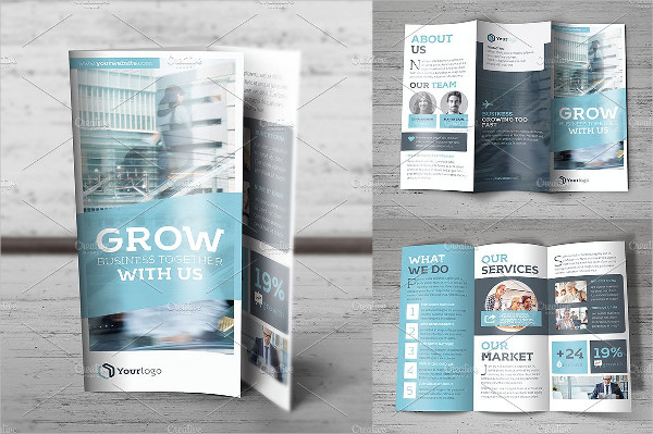 Simple Trifold Brochure Template