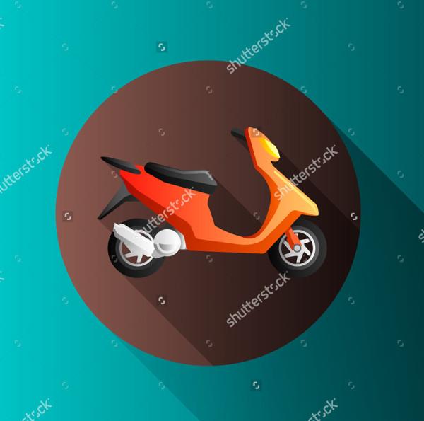 Flat Design Motorcycle Icon