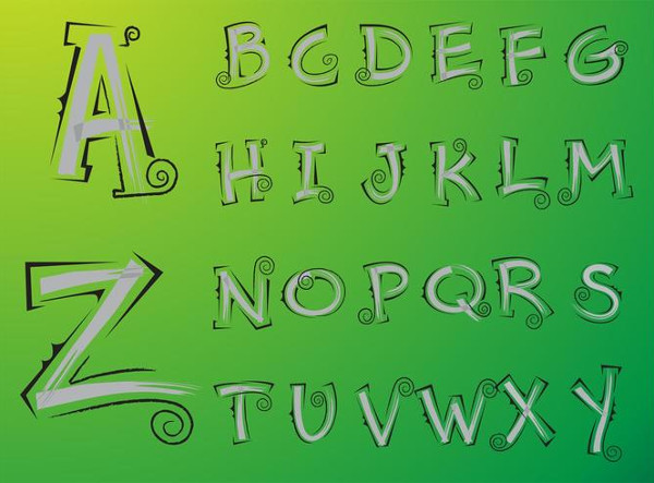 Sketchy Alphabet Upper Case Letter Templates Free