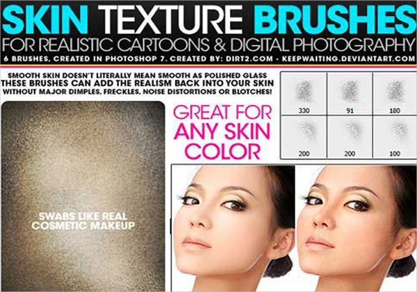 Skin Texture Brushes Free Download
