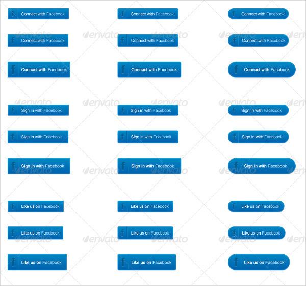 Sleek Social Media Buttons Pack