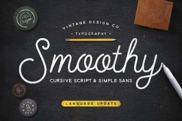 Smoothy Cursive Script Font