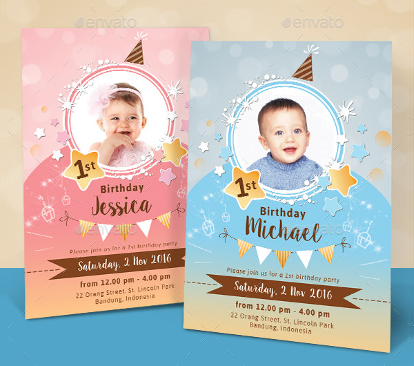 Sparkling Kids Birthday Invitations