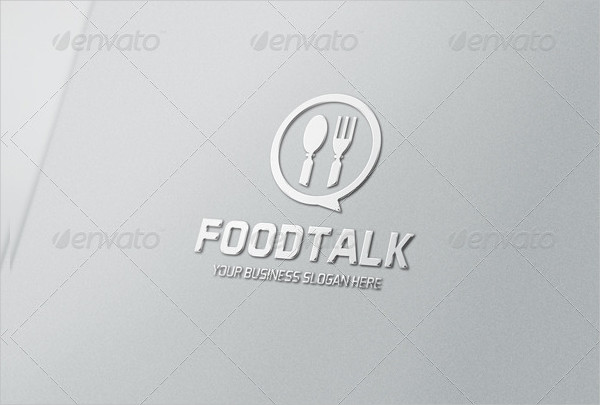 Restaurant Food Talk Logo Template