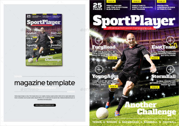 Sports Player Magazine Template