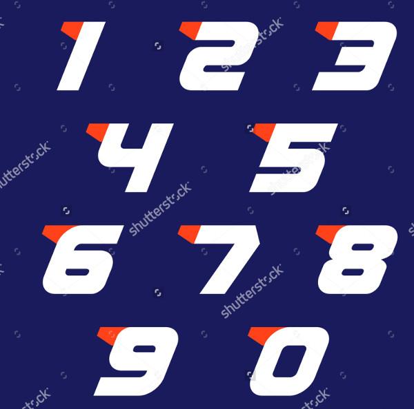 Sport Numbers Set Logo Design Template