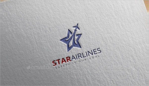 Star Airline Logo Template