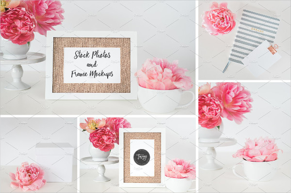 Printable Stock Photo Frame Mockup