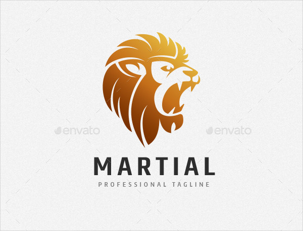 Strong Lion King Logo Template