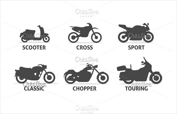 Motorcycle Type and Model Icons Set