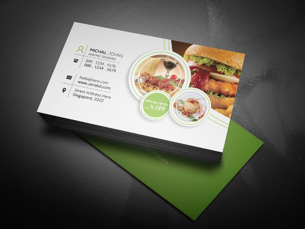 popular restaurant business card - Restaurant Business Card