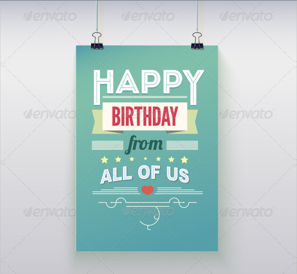 Stylish Poster Template for Happy Birthday