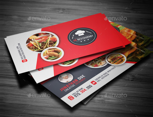 25 restaurant business card templates free premium download stylish restaurant business card template flashek Gallery