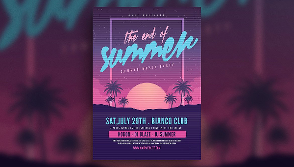 23 summer party flyer templates free premium download