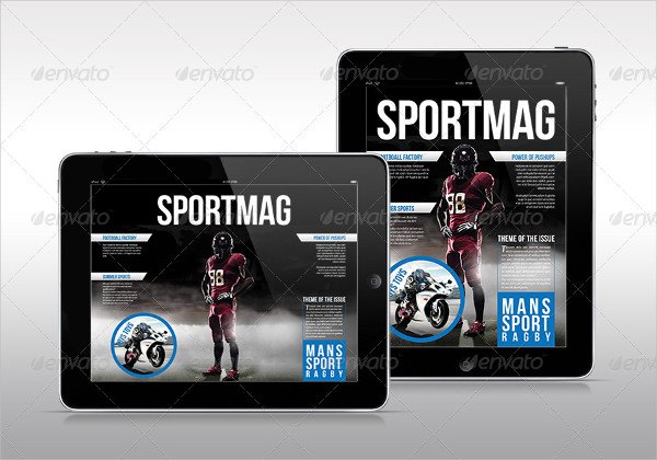 Tab Sport Magazine Template
