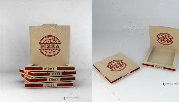 Take-Away Pizza Box Mockup