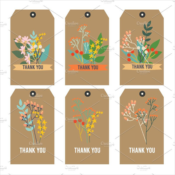 Thank You Printable Tags Floral