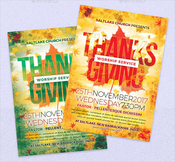 Thanks Giving Church Flyers