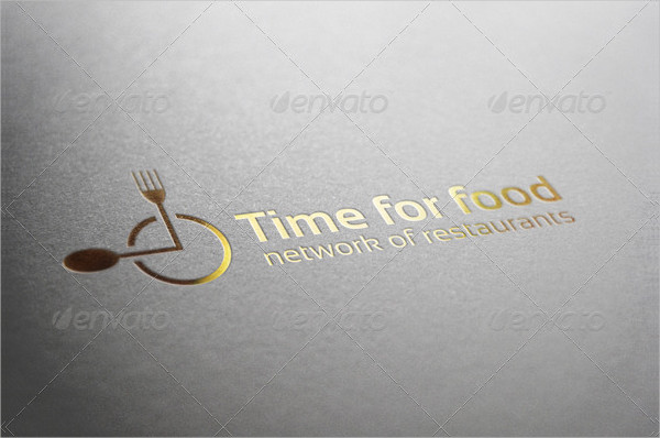 Time for Restaurant Food Logo Template