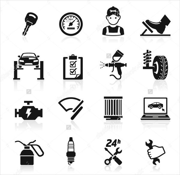 Car Service & Maintenance Icons Set