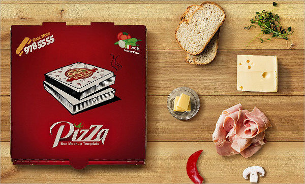 Top View Pizza Box Mockup