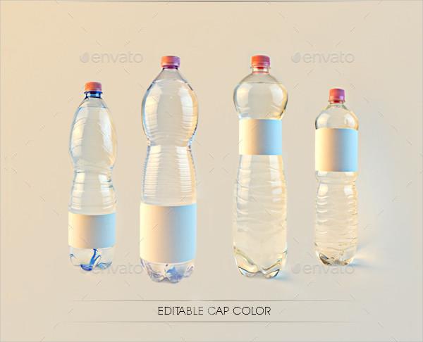 Transparent Design Water Bottle Labels