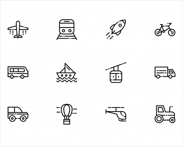 Transportation Icons Free Vector