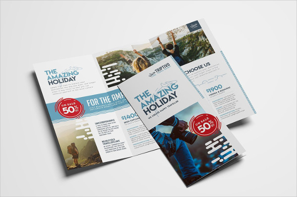 Travel Company Trifold Brochure Template
