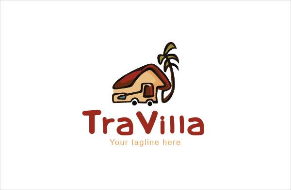 Travel Cottage Logo Template