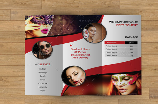 Trifold Photography Marketing Brochure