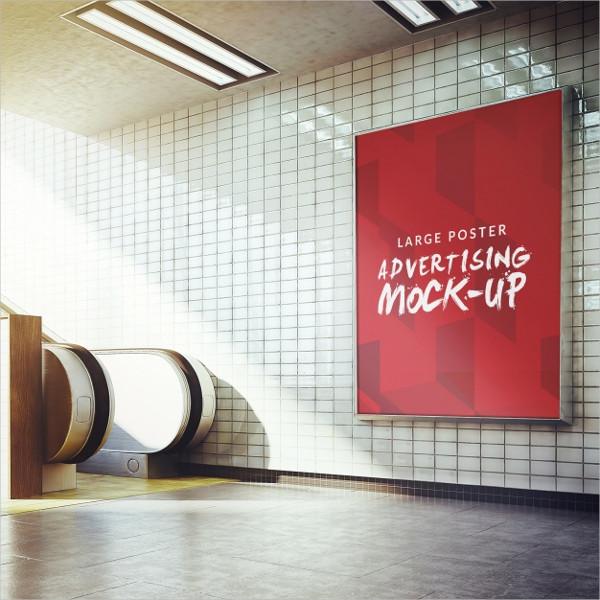 Underground Poster Mockup Design Free