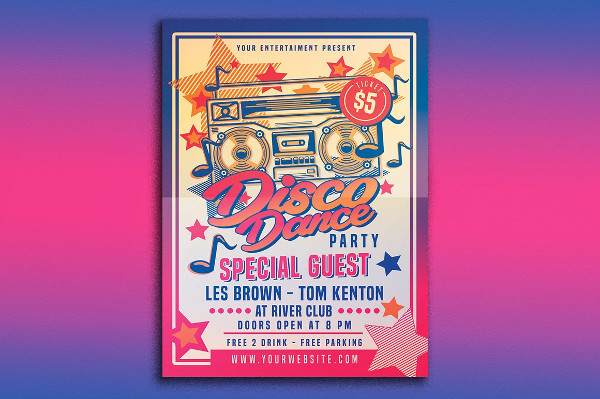 Unique Disco Dance Party Flyer Design