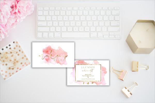 Unique Makeup Artist Business Card Design