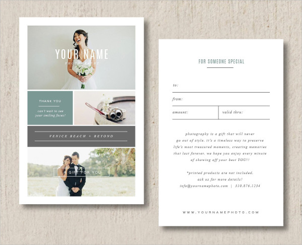Unique Photography Gift Card Template