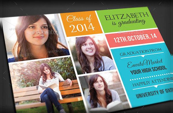 Graduation Announcement Party Card Template