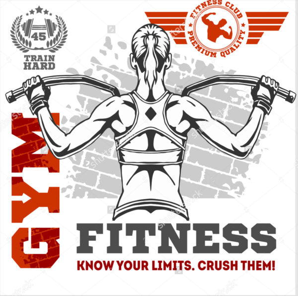 Fitness Club and Gym Banner or Poster Design