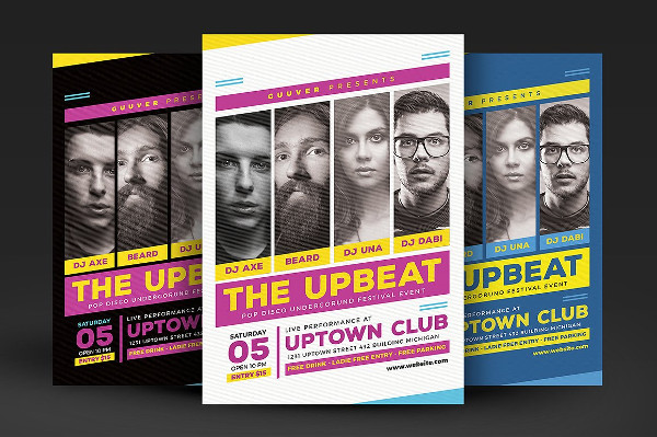 Upbeat Music Party Flyer Template