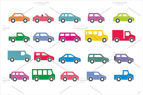 Vector Cars Icons Set
