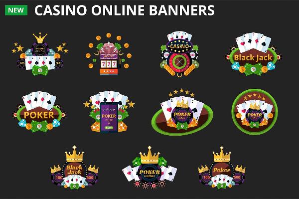 Vector Casino Online Banners