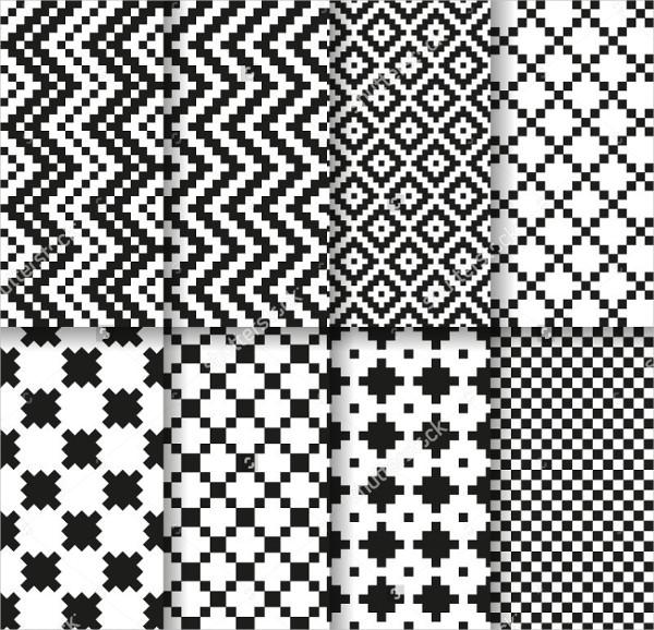 Seamless Pattern Mosaic Square Line